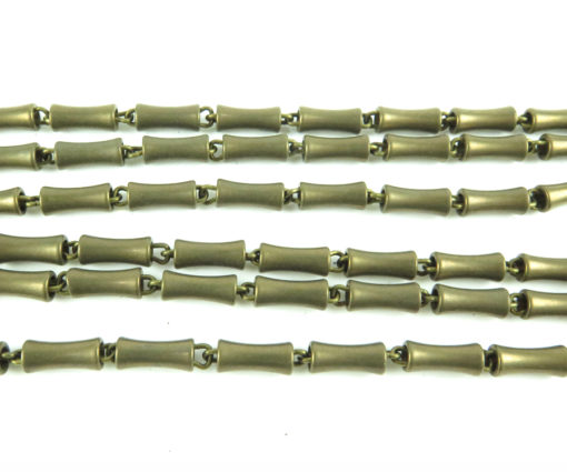 brass rounded bar chain -