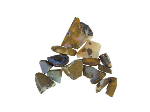 rough opal chips