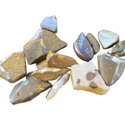 rough opal chips