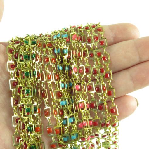 square enamel chain