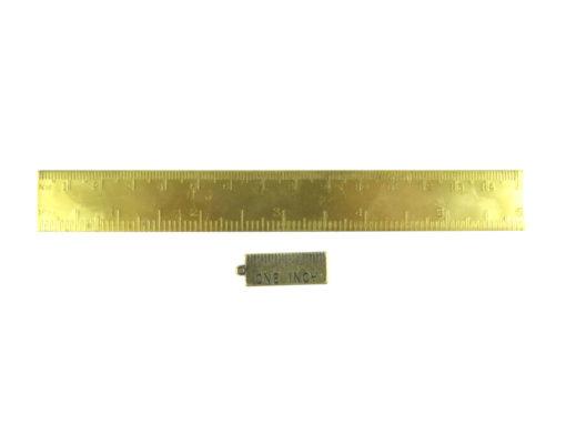 6 inch brass ruler