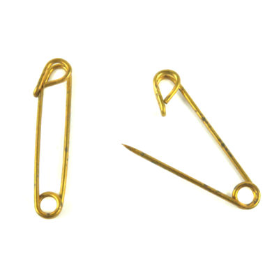 brass safety pins vintage