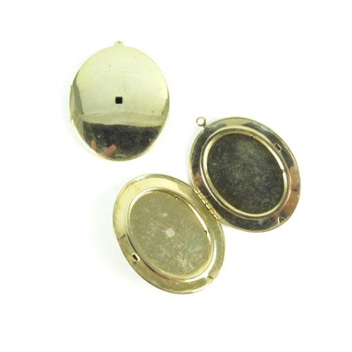 large oval shiny locket