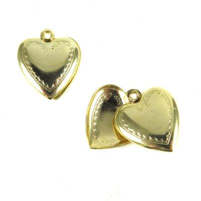 shiny gold heart locket