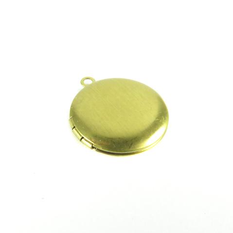 smooth brass circle locket
