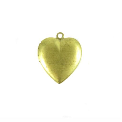 smooth brass heart locket