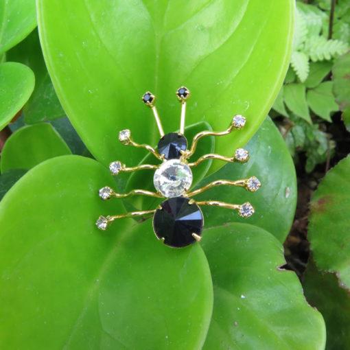 rhinestone spider pin