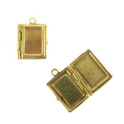 tiny book locket