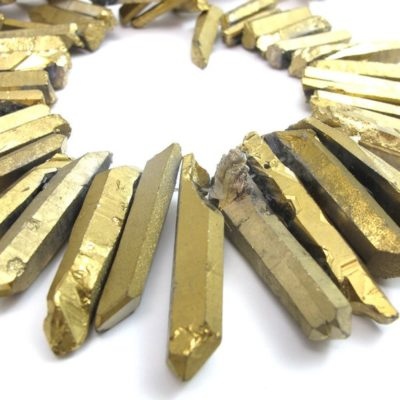 gold electroplated quartz sticks