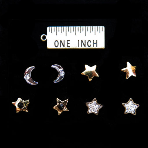 starsandmoons stud earrings