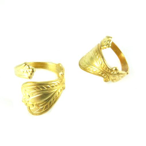 brass spoon ring