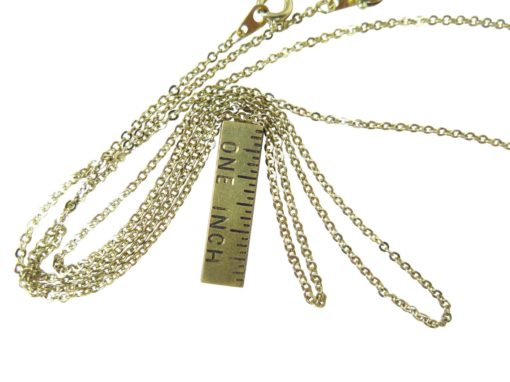dulled gold plated 15 inch cable chain necklace