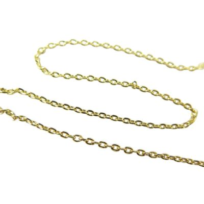 gold plated dainty cable chain