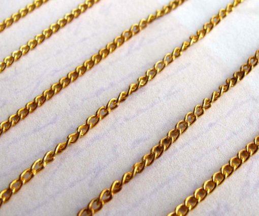 vintage brass curb chain