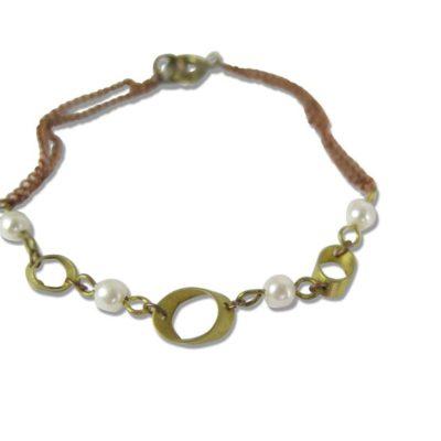 vintage geometrie and pearl bracelet findings