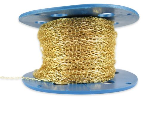 gold plated diamond cut cable chain