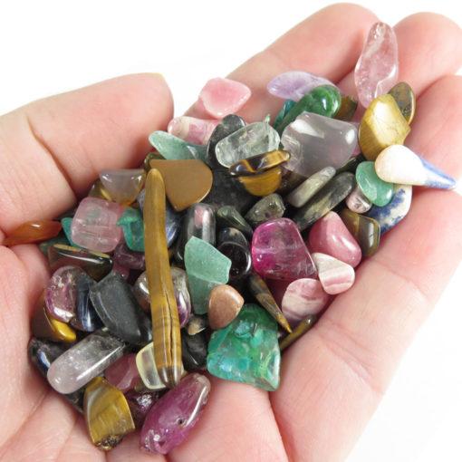 mixed polished gemstone pieces