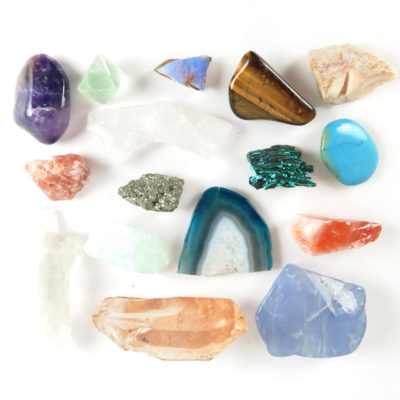 mixed gemstones