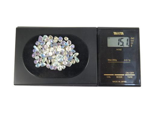 electroplated polished quartz pebbles