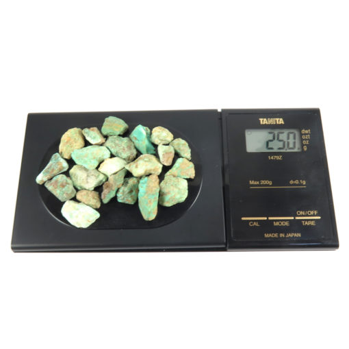 rough turquoise nuggets