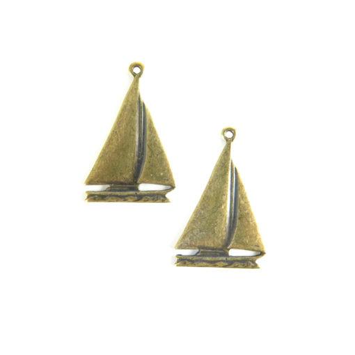 sailboat - ant brass