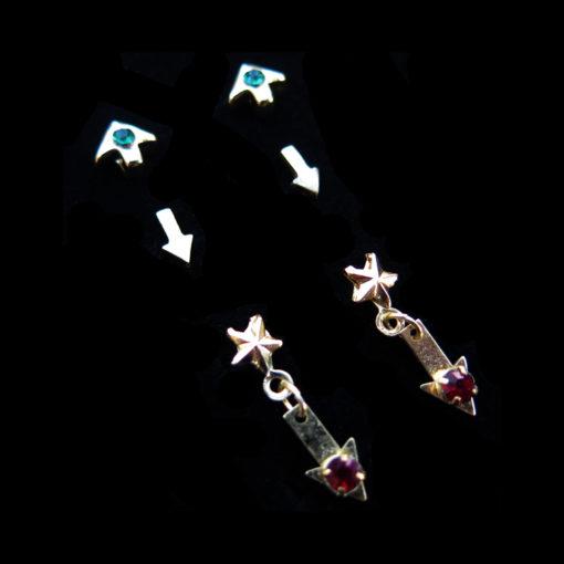 arrow stud earrings