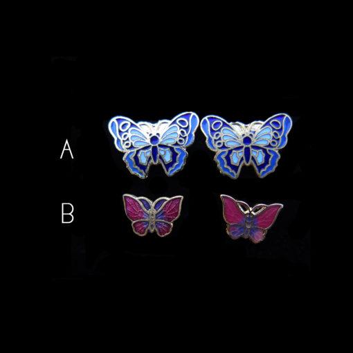 enamel butterfly earrings