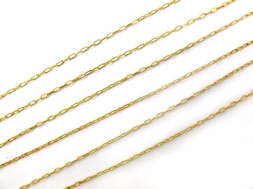 vintage brass cable chain necklaces