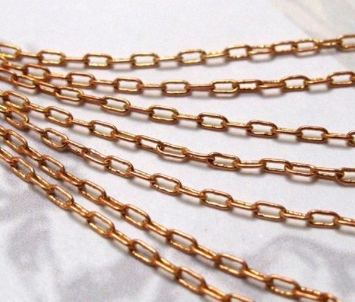 vintage red brass cable chain
