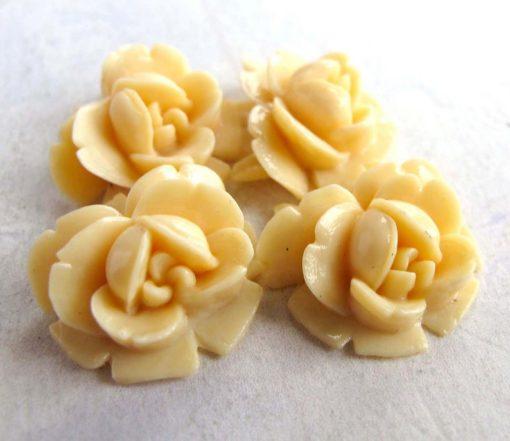 vintage flower celluloid cabochon