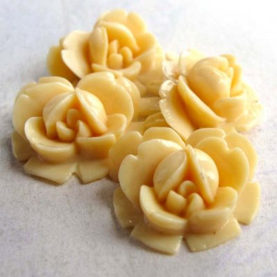 vintage flower celluloid cabochon