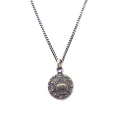 AB tiny zodiac necklace - aries
