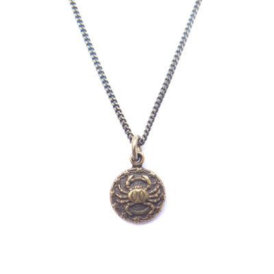 AB tiny zodiac necklace - cancer