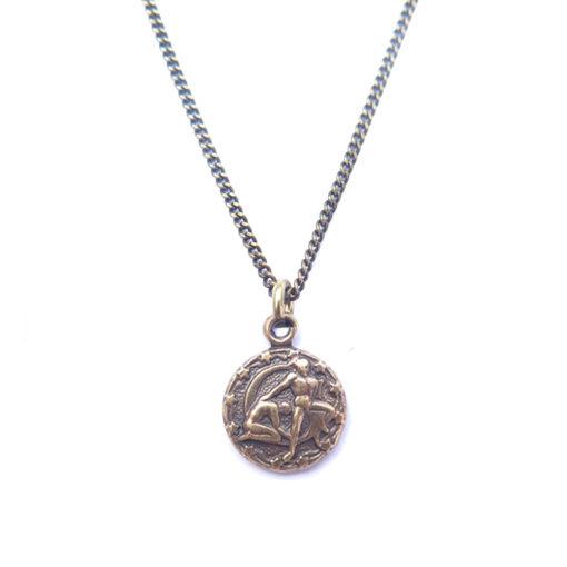 AB tiny zodiac necklace - gemini