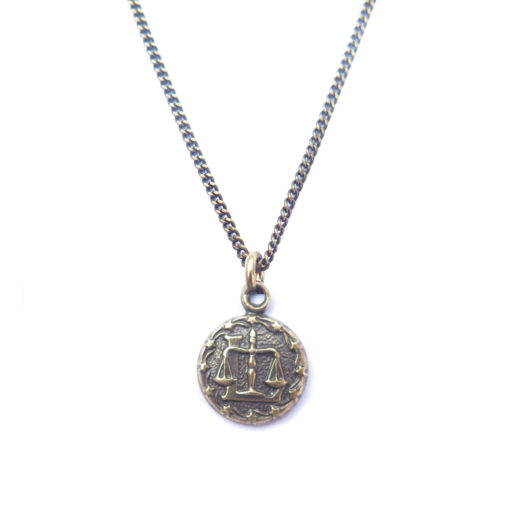 AB tiny zodiac necklace - libra