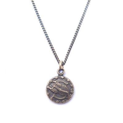 AB tiny zodiac necklace - scorpio