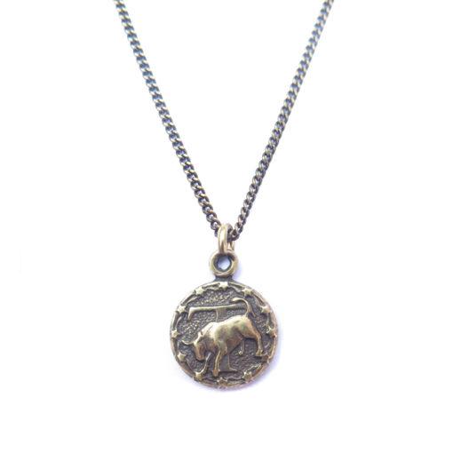 AB tiny zodiac necklace - taurus