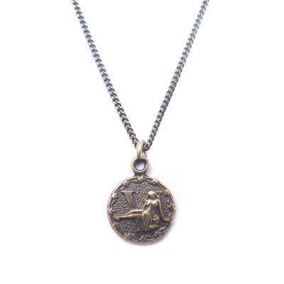 AB tiny zodiac necklace - virgo