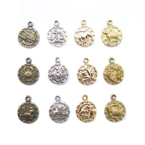 dainty circle zodiac charms