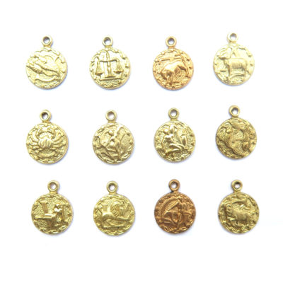 brass tiny zodiac - all 12