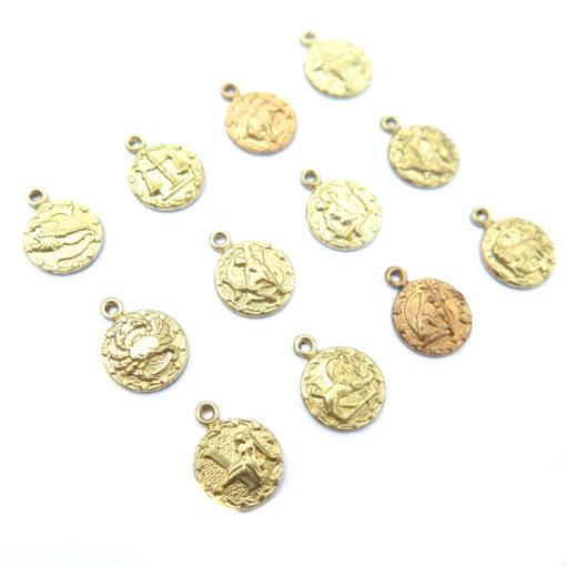 brass tiny zodiac - all 12