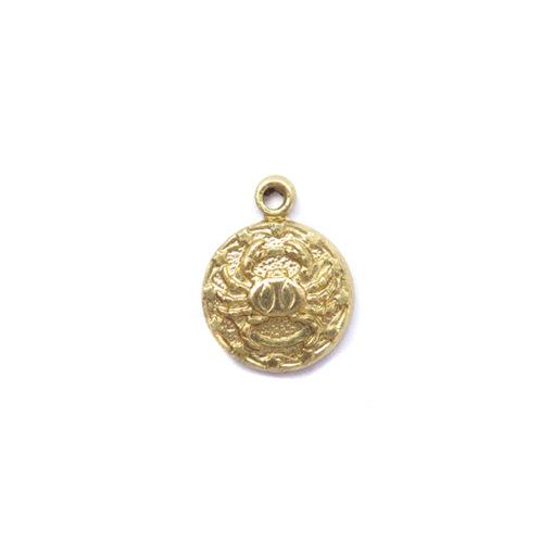 brass tiny zodiac - cancer