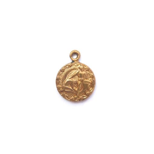 brass tiny zodiac - gemini