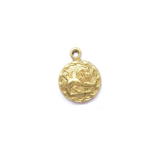 brass tiny zodiac - leo