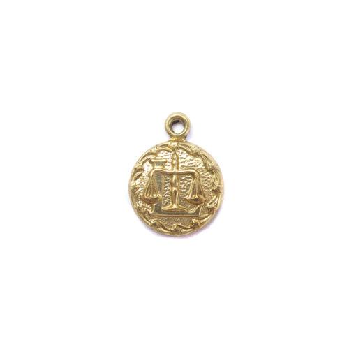 brass tiny zodiac - libra