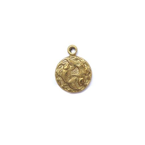 brass tiny zodiac - pisces
