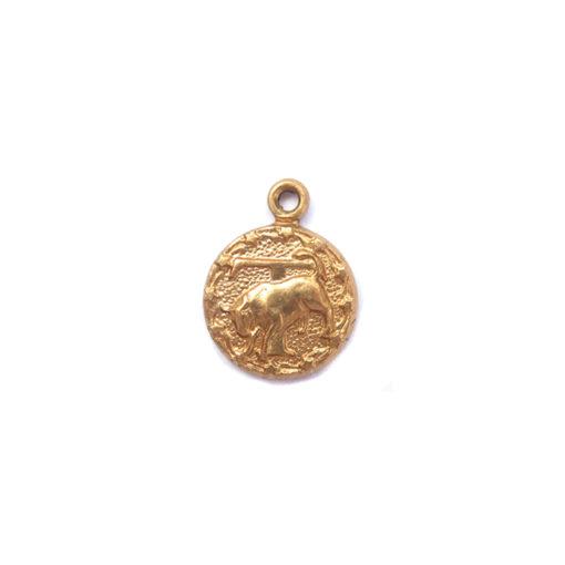 brass tiny zodiac - taurus