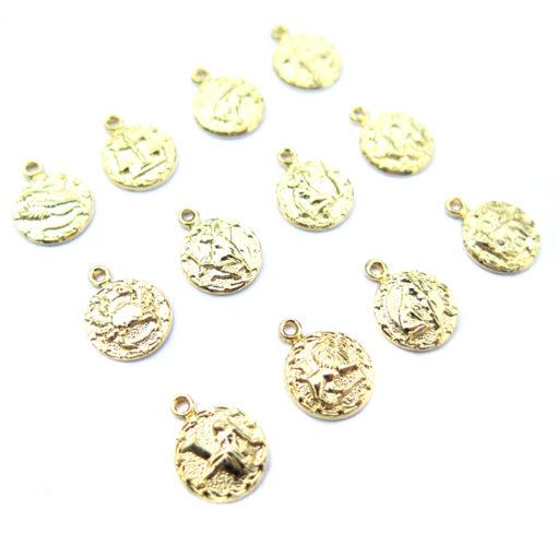 gold plated tiny zodiac - all 12 - 2
