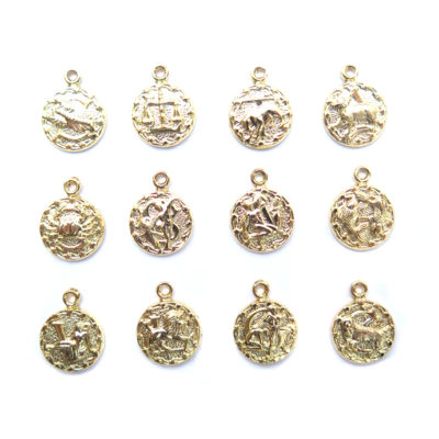 gold plated tiny zodiacs