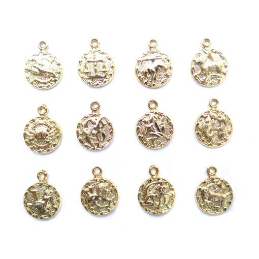 gold plated tiny zodiacs